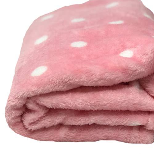 PAXTOYS | Cobija polka dots rosa - Cobija para recién nacidos para niños y niñas.
