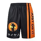 Dragon Ball Z Goku Shorts Deportivos Sueltos para Hombre Shorts de Baloncesto de...