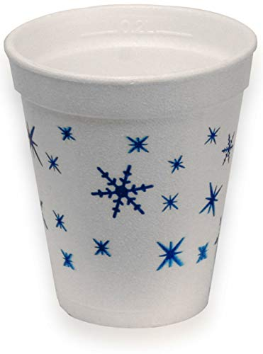 1000 Stück Trinkbecher Thermobecher Styroporbecher Becher 0,2 l Glühwein Tee 200 ml Winter