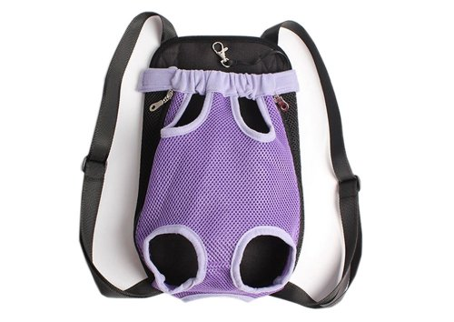 Portable Chest Transporteur Sac à dos pour Animaux Chiens Violet (Buste 50cm)