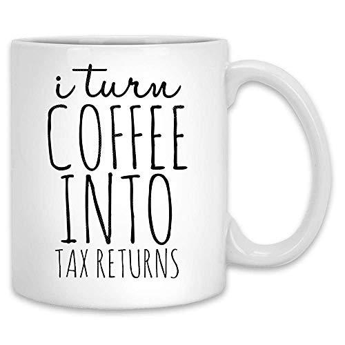 Convierto el café en declaraciones de impuestos taza