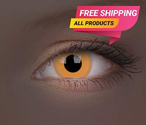 Halloween Kontaktlinse Lustige Linse UV Glow Orange Jährliche Einweg 14 mm stärke 0.00 von ColourVUE