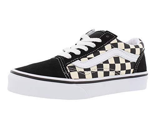 Vans - Unisex-Child Old Skool Shoes, Size: 13.5 M US Little Kid, Color: (Primary Check) Black/White