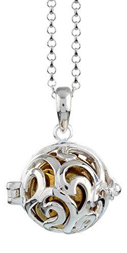 Nenalina EFS-020 - Collar con colgante de llamador de ángeles, plata de ley