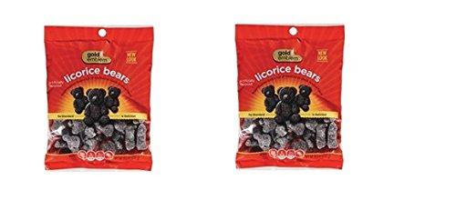 Gold Emblem Licorice Candy Bears 105 oz bagpack of 2