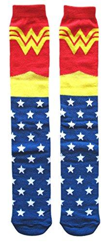 Hyp DC Comics Classic Wonder Woman Knee High Socks Shoe Size 4-10