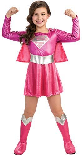 Rubies - Disfraz de Supergirl| color rosa