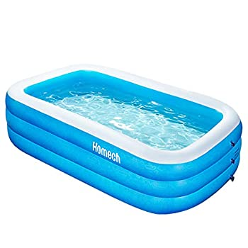 Inflatable Swimming Pool Homech Inflatable Kiddie Pool Full-Sized Family Lounge Pool Family Swimming Pool Above Ground for Baby Kids Adults Toddlers for Ages 3+ Outdoor Garden Backyard