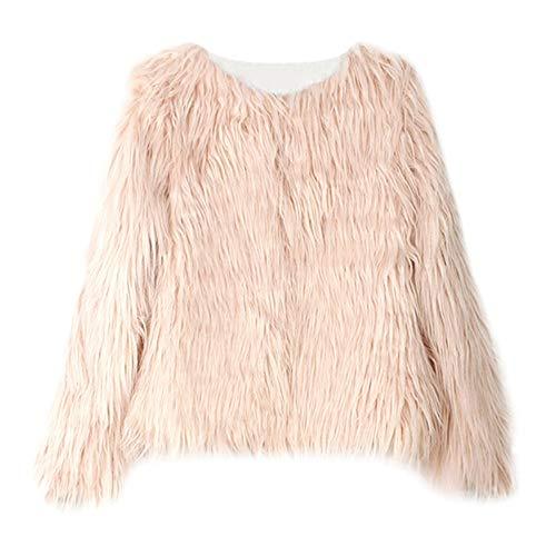 Kobay Kobay Kleinkind Kinder Baby Mädchen Winter Warm Langarm Kunstpelz Dicker Mantel Outwear(2-3T,Khaki)
