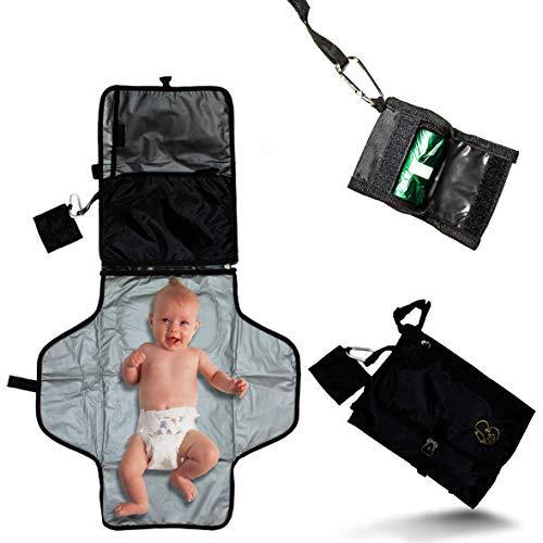 Stork's Dream Borsa fasciatoio multifunzione, pieghevole portatile unisex per neonato - Fasciatoio Da Viaggio - Kit Per Cambio Pannolini - Idea Regalo Neonato Neomamma