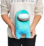 XIAOHONG 12''/30cm Soft Large Among Us Plush - Among Us Game Plush Stuff Animal Plushies Toys Plush Doll Figurine Toy - Among Us Merch Plushie Gifts for Game Fans (Blue)