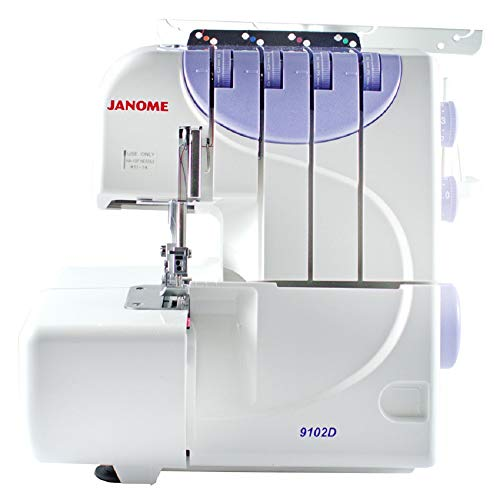 Janome 9102D Maquina Overlock, color blan