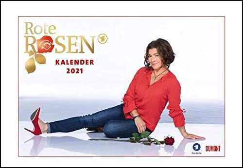 Rote Rosen 2021 - Broschürenkalender - Wandkalender - mit Jahresplaner - Format 42 x 29 cm