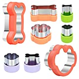 Magigift Dog Cookie Cutter Set - Dog Bone and Dog Paw Print Cookie Mold for Homemade Treats - Stainless Steel Cookie Cutter molds for Kids Suitable for Cakes and Cookies (Assorted Sizes)
