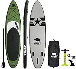 1. Atoll 11′ Foot - Best Buy Inflatable Stand Up Paddle Board in 2020