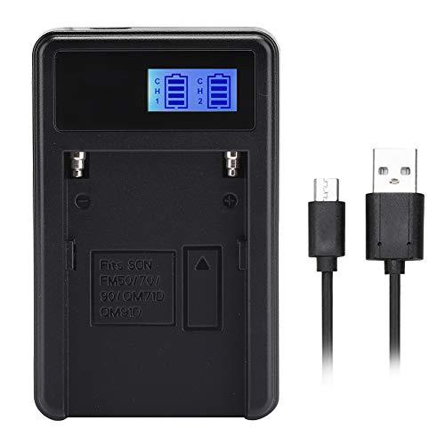 Vbestlife Cargador de batería para cámara de luz de Video con Pantalla de Carga LED, para Sony NP-F550 F960 F970, para Android