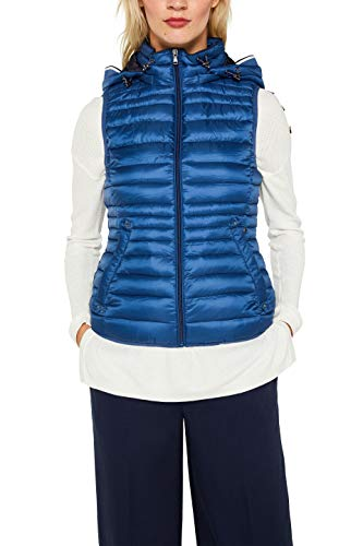 ESPRIT Damen 079Ee1H001 Outdoor Weste, Blau (Dark Blue 405), Medium (Herstellergröße: M)