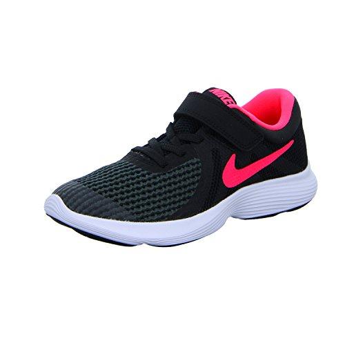 Nike Damen Revolution 4 (PSV) Fitnessschuhe, Schwarz (Black/Racer Pink. 004), 35 EU
