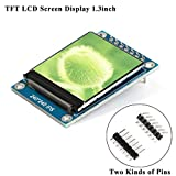 MakerFocus TFT LCD Screen Display 1.3inch TFT LCD Module, 240240 IPS 65K Full Color 3.3V with SPI Interface ST7789 IC Driver, 51 STM32 Ar duino Routines for DIY