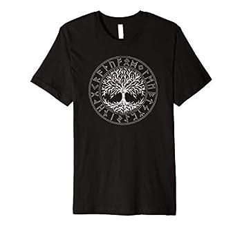 Celtic Tree of Life Runes Viking Yggdrasil Nordic Symbol Premium T-Shirt