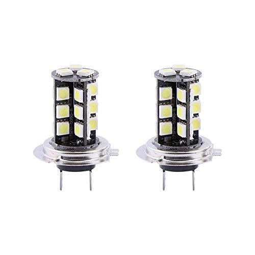 Bombilla de luz antiniebla LED-2x H7 Canbus sin errores 27 SMD 5050 Lámpara de bombilla de luz antiniebla blanca superbrillante LED