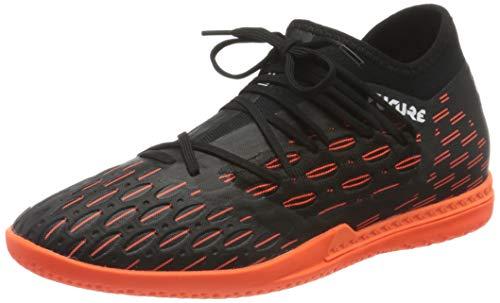 PUMA Future 6.3 Netfit IT, Zapatillas de fútbol Hombre, Negro Black White/Shocking Orange, 44.5 EU