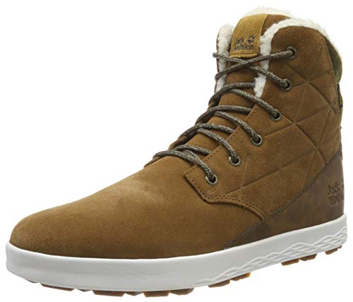 Jack Wolfskin Auckland WT Texapore High M Wasserdicht, Zapatos Rise Senderismo Para Hombre, Desert Brown/White 5215, 44.5 EU
