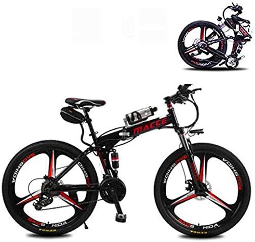 Bicicletas, Bicicleta eléctrica plegable de 26 pulgadas para adultos de 21 velocidades...