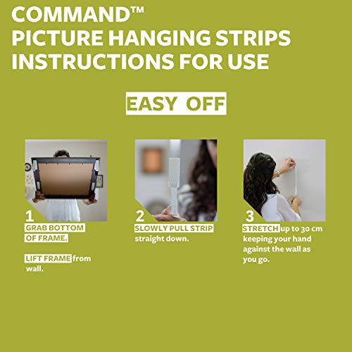 Command Picture & Frame Hanging Strips Value Pack, Large, White, 12-Pairs (17206-12, (17206-12ES)