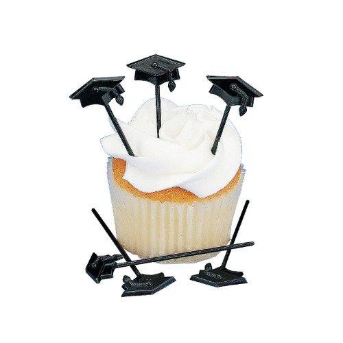 Fun Express - Plastic Graduation Picks (6dz) for Graduation - Party Supplies - Serveware & Barware - Picks & Stirrers & Parasols - Graduation - 72 Pieces