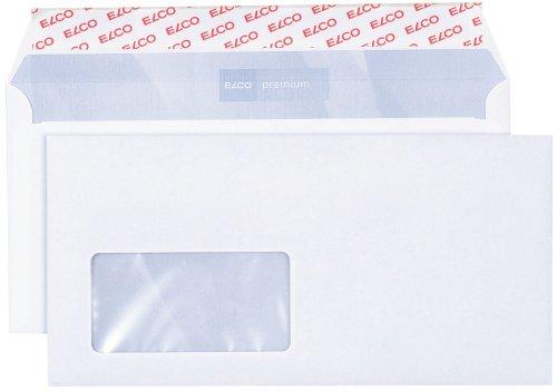 Elco 30778 Premium Briefumschlag, Dinlang, 80 g, weiß