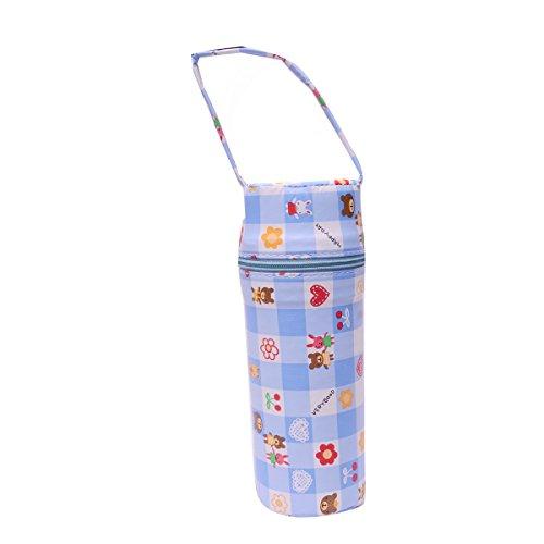 PIKIPOO Presents Portable Infant Feeding Milk Food Bottle Thermal Warmer Bag Storage Holder (Single Bottle, Blue)