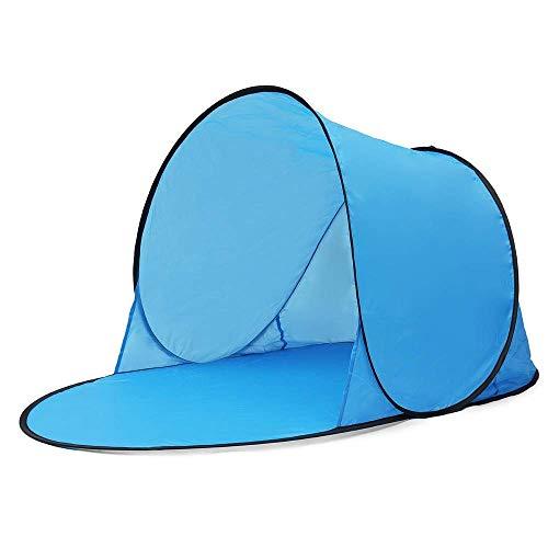 MotBach Tienda de campaña al Aire Libre Camping Automático Pop Tienda Abierta rápida Impermeable UV Beach Sombrilla Unisex Outdoor Dome Tienda (Color : Blue, Size : 142x72x60cm)