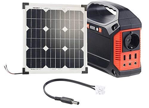 reVolt Solarkonverter: Powerbank & Solar-Konverter mit 20-W-Solarzelle & Anschlusskabel, 42Ah (Solar-Generator & Powerbank)