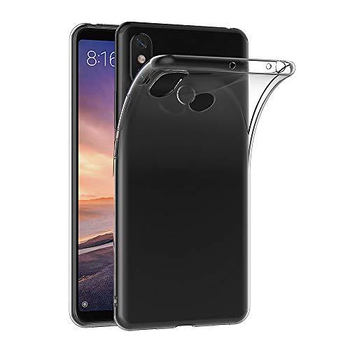 AICEK Funda Xiaomi Mi MAX 3, Transparente Silicona Fundas para Xiaomi MAX 3 Carcasa Silicona Funda Case (6,9 Pulgadas)