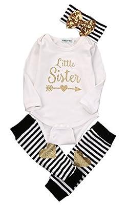 Newborn Baby Boy Girl Romper Tops + Headband+Leg Warmer 3PCS Outfits Set Clothes