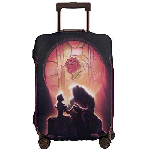 Funda para equipaje de viaje, diseño de anime de la Bella y la Bestia