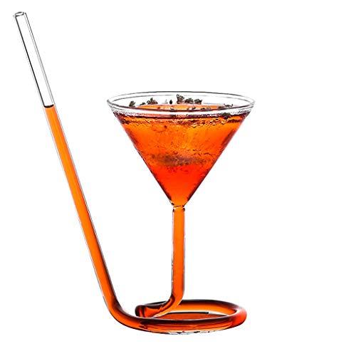 Verres Margarita Cup Martini Cup Verre À Cocktail Verre Personnalité Bar Coupe Set Champagne (Color : Clear, Size : W)