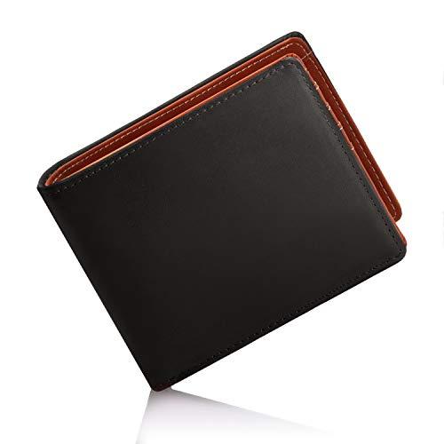 [グレヴィオ] GLEVIO(グレヴィオ) イタリアンレザー 財布 メンズ 二つ折り財布 YKKファスナー 本革 二つ折り エルバマット ブラック