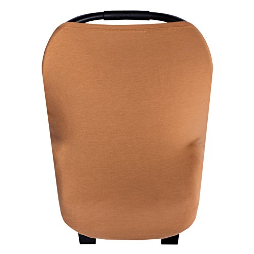 Baby Car Seat Cover Canopy and Nursing Cover Multi-Use Stretchy 5 in 1 Gift'Camel' by Copper Pearl
