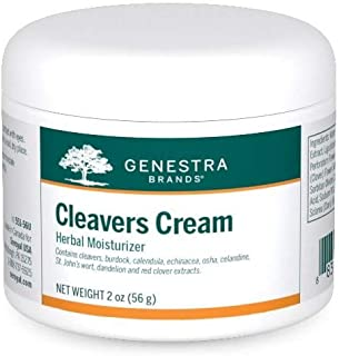 Genestra Brands - Cleavers Cream - Herbal Moisturizer with Burdock, Calendula, Echinacea, OSHA, Cleavers, Celandine, St. J...