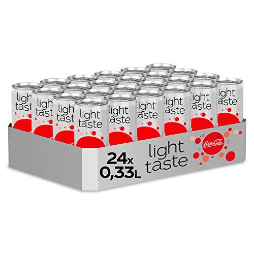 Coca-Cola Light Taste, Erfrischendes Softgetränk in coolen Dosen - Coca-Cola Geschmack ohne Kalorien, EINWEG Dose (24 x 330 ml)