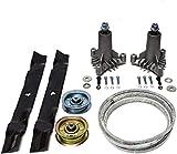 """42"""" Deck Rebuild Kit Compatible with Newer Craftsman Models LT1000 / LTX1000 / LT3000 Compatible with 2 Spindles 130794,1 Idler Pulley 131494,1 Idler Pulley 173437,2 Blades 134149, 1 Belt 144959"""