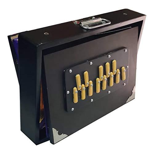 Surpeti Box Classic Black Shruti 440 Hz Professionelle Version Teakholz 13 Stopper Lange Haltbarkeit