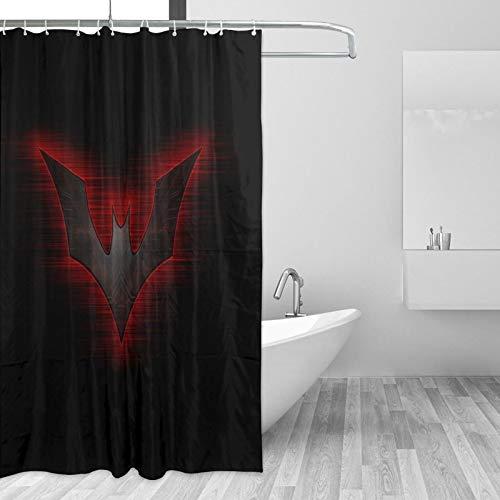 Why So Serious Joker Batman Duschvorhang, 12 Haken, Meditations-Design, wasserdichter Stoff, Badezimmer-Duschvorhang