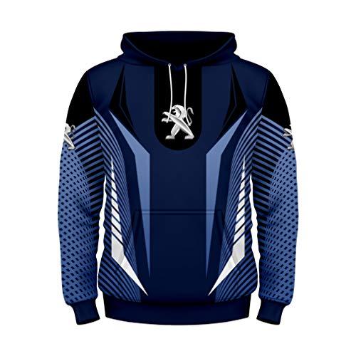 Cronell Story Unisex Langarm Hoodie 3D Digital International PGT Logo Print Sweatshirt Lässiges Sweatshirt (1,L)