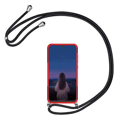 Kesv kompatibel mit Vivo V11 Pro Handyhülle mit Umhängeband, Handykordel mit Schutzhülle, Silikonhülle, Hülle mit Band, Stylische Kette mit Hülle Smartphone