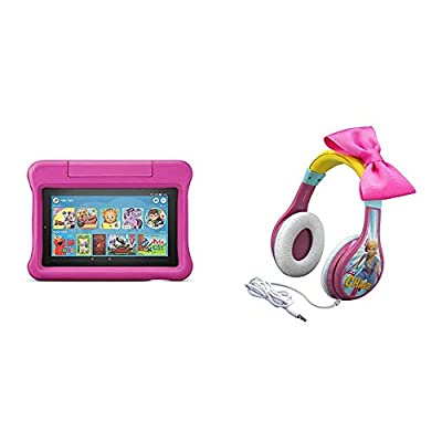 Fire 7 Kids Edition Tablet (Pink) + Toy Story Headphones (Bo Peep) by