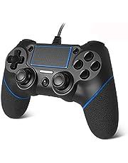 【2020升级版】PS4 コントローラー PC コントローラー PS4 / Slim / Pro/Win7/8/10 対応 有線 ゲームパッド 人間工学 二重振動 6軸
