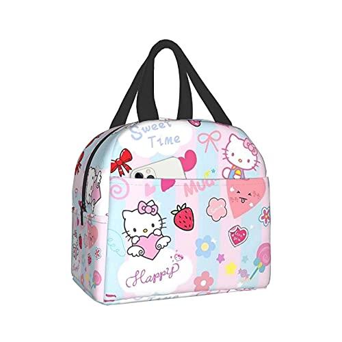 Hello Kitty - Bolsa térmica para el almuerzo con aislamiento suave y enfriador para el trabajo o viajes para adultos
